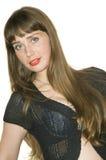 Μοντέλο με το κόκκινο χείλι Στοκ φωτογραφίες με δικαίωμα ελεύθερης χρήσης