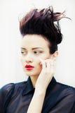 Μοντέλο με hairdress σε ένα κομψό κοστούμι Στοκ Εικόνες