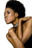 μοντέλο μόδας αφροαμερι&kap Στοκ Εικόνα
