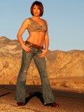 μοντέλο μόδας ερήμων στοκ φωτογραφίες με δικαίωμα ελεύθερης χρήσης
