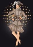 μοντέλο μόδας διανυσματική απεικόνιση