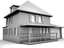 μοντέλο σπιτιών ελεύθερη απεικόνιση δικαιώματος
