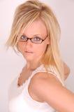 μοντέλο τριχώματος γυαλιών Στοκ Εικόνα