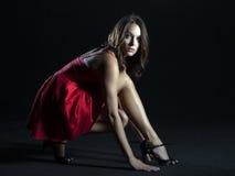 μοντέλο brunette Στοκ φωτογραφίες με δικαίωμα ελεύθερης χρήσης