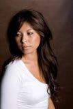 μοντέλο brunnette Στοκ Φωτογραφία