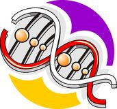 μοντέλο DNA Στοκ εικόνα με δικαίωμα ελεύθερης χρήσης