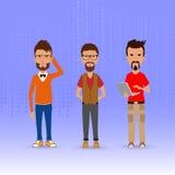 Μοντέρνα άτομα στην εργασία Ελεύθερη απεικόνιση δικαιώματος