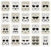25 μοντέρνα απλά εικονίδια γυαλιών καθορισμένα Στοκ Φωτογραφίες