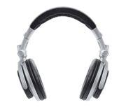 Μοντέρνα ασημένια ακουστικά του DJ Στοκ εικόνα με δικαίωμα ελεύθερης χρήσης