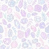 Μοντέρνα κρύσταλλα πολύτιμων λίθων doodle Στοκ εικόνες με δικαίωμα ελεύθερης χρήσης