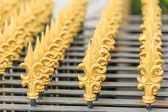Μοντέρνα ταϊλανδική τέχνη του φράκτη στο ναό Στοκ Εικόνες