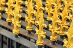 Μοντέρνα ταϊλανδική τέχνη του φράκτη στο ναό Στοκ Εικόνα