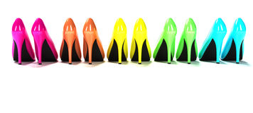 Μοντέρνα υψηλά παπούτσια τακουνιών Στοκ εικόνα με δικαίωμα ελεύθερης χρήσης