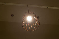 Μοντέρνα lampshades ανάβουν μια μονάδα Στοκ Φωτογραφία