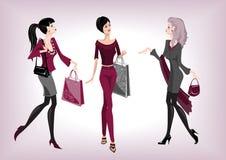 μοντέρνες τρεις γυναίκε&s ελεύθερη απεικόνιση δικαιώματος