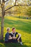 Μοντέρνη αμερικανική οικογένεια Στοκ φωτογραφία με δικαίωμα ελεύθερης χρήσης