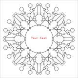 Μοντέρνη γεωμετρική αφαίρεση με τους κύκλους και γραμμές με το κόκκινο te Στοκ φωτογραφίες με δικαίωμα ελεύθερης χρήσης