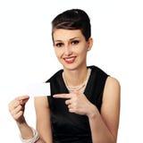 μοντέρνη γυναίκα επαγγελματικών καρτών Στοκ Εικόνες
