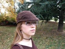 μοντέρνη γυναίκα πάρκων Στοκ εικόνα με δικαίωμα ελεύθερης χρήσης