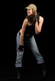 μοντέρνη γυναίκα τζιν ΚΑΠ στοκ εικόνα με δικαίωμα ελεύθερης χρήσης