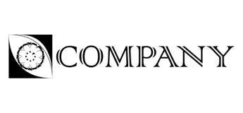 Μοντέρνη διανυσματική απεικόνιση σχεδίου Elegant Square-box Company λογότυπων απεικόνιση αποθεμάτων