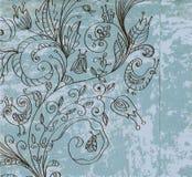 Μοντέρνη εκλεκτής ποιότητας floral ανασκόπηση απεικόνιση αποθεμάτων