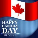 Μοντέρνη ευτυχής ευχετήρια κάρτα ημέρας του Καναδά ή διανυσματική απεικόνιση εμβλημάτων διανυσματική απεικόνιση