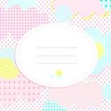 Μοντέρνη ευχετήρια κάρτα με τα σημεία και τα cloudlets Πόλκα Στοκ Εικόνες