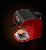 Μοντέρνη μηχανή καφέ espresso με την οθόνη αφής 3DCG δίνοντας με το ψαλίδισμα της πορείας απεικόνιση αποθεμάτων