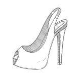 Μοντέρνη τέχνη γραμμών παπουτσιών επίσης corel σύρετε το διάνυσμα απεικόνισης Στοκ Εικόνα