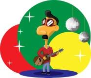 Μοντέρνος βραζιλιάνος κιθαρίστας Στοκ Εικόνες