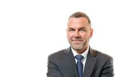 Μοντέρνος επιχειρηματίας με ένα φιλικό χαμόγελο Στοκ εικόνα με δικαίωμα ελεύθερης χρήσης