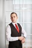 Μοντέρνος νεόνυμφος επιχειρηματιών ατόμων Στοκ Εικόνες
