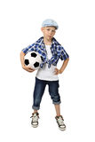 Μοντέρνος ποδοσφαιριστής αγοριών στοκ φωτογραφία με δικαίωμα ελεύθερης χρήσης