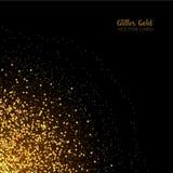 Μοντέρνος χρυσός ακτινοβολεί γύρω από το κομφετί στο μαύρο διανυσματικό υπόβαθρο διανυσματική απεικόνιση