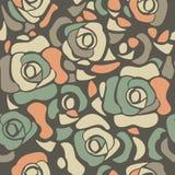 Μοντέρνο άνευ ραφής σχέδιο με τα τριαντάφυλλα Στοκ Εικόνες