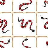Μοντέρνο άνευ ραφής σχέδιο με τις ζώνες και τα φίδια ελεύθερη απεικόνιση δικαιώματος