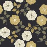 Μοντέρνο άνευ ραφής σχέδιο με τα όμορφα λουλούδια Στοκ φωτογραφία με δικαίωμα ελεύθερης χρήσης