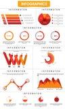 Μοντέρνο επιχειρησιακό infographic πρότυπο για την επαγγελματική παρουσίαση Στοκ Φωτογραφίες
