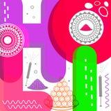 Μοντέρνο ζωηρόχρωμο κείμενο για τον εορτασμό φεστιβάλ Holi Στοκ Εικόνα