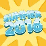 Μοντέρνο καλοκαίρι 2016 επιγραφής διάνυσμα απεικόνιση αποθεμάτων