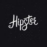 Μοντέρνο κείμενο Hipster στο αφηρημένο μαύρο υπόβαθρο διανυσματική απεικόνιση