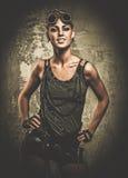 Μοντέρνο κορίτσι steampunk Στοκ φωτογραφίες με δικαίωμα ελεύθερης χρήσης