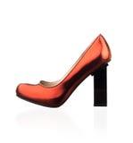 Μοντέρνο κόκκινο παπούτσι γυναικών Στοκ φωτογραφίες με δικαίωμα ελεύθερης χρήσης