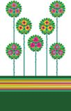 μοντέρνο λουλούδι απεικόνιση αποθεμάτων