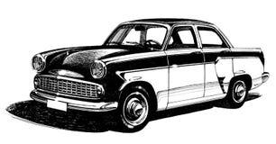 Μοντέρνο παλαιό four-seater αστικό αυτοκίνητο Απεικόνιση αποθεμάτων
