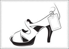 Μοντέρνο παπούτσι, το σκίτσο Στοκ Εικόνα