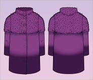 Μοντέρνο παλτό με την επίδραση κλίσης Στοκ εικόνες με δικαίωμα ελεύθερης χρήσης