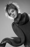 μοντέρνο πορτρέτο κοριτσ&iota Στοκ Εικόνα