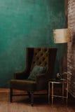 Μοντέρνο πράσινο δωμάτιο Στοκ Φωτογραφίες